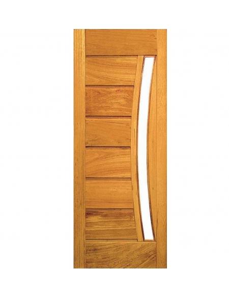 Porta Pavuna com Visor - Madeira Maciça - Angelim