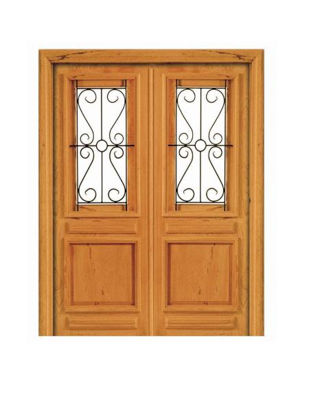 Porta Dupla de Abrir Pampulha Ferro e Madeira - Angelim