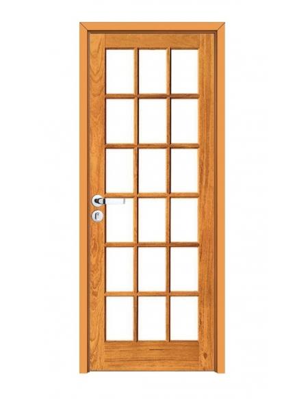 Kit Porta Pronta Quadriculada - Madeira Maciça - Angelim
