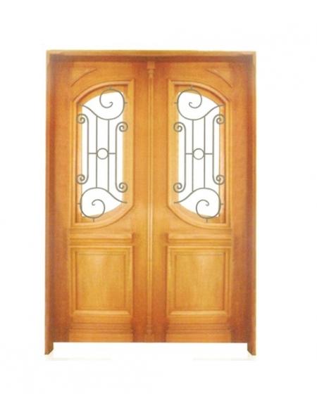 Porta Dupla de Abrir 789 Ferro e Madeira - Angelim