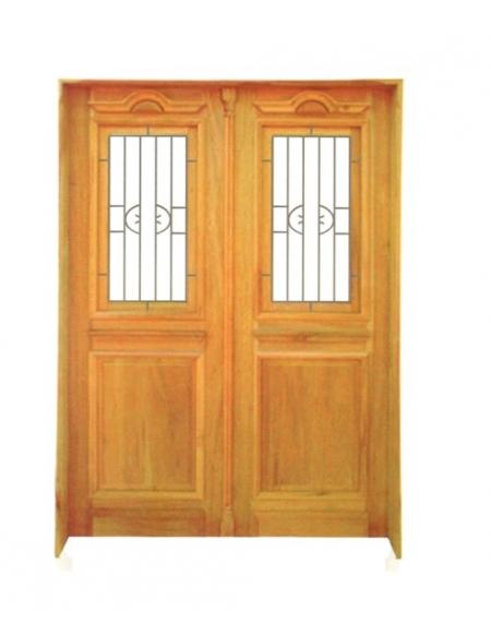 Porta Dupla de Abrir 799 Ferro e Madeira - Angelim