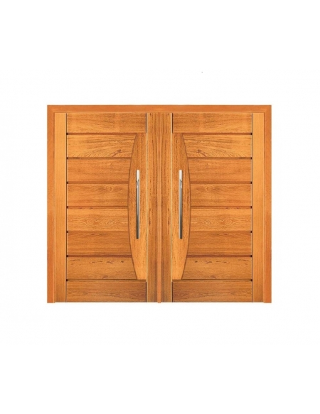 Porta Pivotante Dupla Pavuna - Madeira Maciça - Angelim