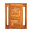 Porta Pivotante 713 com 2 Visor Lateral - Madeira Maciça - Angelim