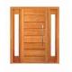 Porta Pivotante Horizontal com Visor Lateral Duplo - Madeira Maciça - Angelim