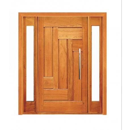 Porta Pivotante Estrelar com Visor Lateral Duplo - Madeira Maciça - Angelim