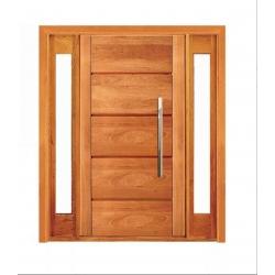 Porta Pivotante Mil com Visor Lateral Duplo - Madeira Maciça - Angelim