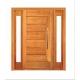 Porta Pivotante Pavuna com Visor Lateral Duplo - Madeira Maciça - Angelim