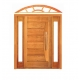 Porta Pivotante Pavuna com Visor Lateral Duplo e Arco - Madeira Maciça - Angelim