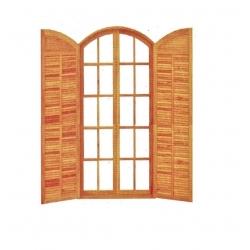 Porta Abrir A/A Colonial - 04 Folhas - Angelim