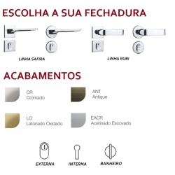 Kit Porta Pronta Horizontal com Visor - Madeira Maciça - Angelim