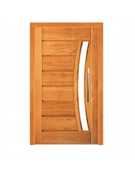 Porta Pivotante Pavuna c/ Visor - Madeira Maciça - Angelim