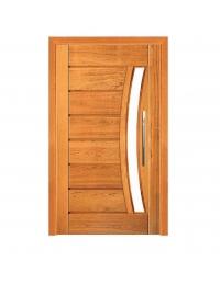 Porta Pivotante Pavuna com Visor - Madeira Maciça - Angelim